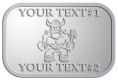 Ace Recognition Pewter Crest, Lapel - with your text and logo - Sports, mascots, vikings, norsemen, high school, college, university
