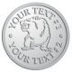 Ace Recognition Pewter Coin, Lapel, Plaque - with your text and logo - Sports, mascots, bears, grizzlies, high school, college, university