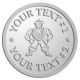 Ace Recognition Pewter Coin, Lapel, Plaque - with your text and logo - Sports, mascots, martial arts, warriors, high school, college, university