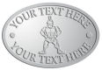 Ace Recognition Pewter Crest, Lapel, Plaque - with your text and logo - Sports, mascots, soldiers, roman soldiers, high school, college, university