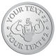 Ace Recognition Pewter Coin, Lapel, Plaque - with your text and logo - Men, man, bodybuilding, body-building, weightlifting