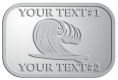 Ace Recognition Pewter Crest, Lapel - with your text and logo - waves, surfboard, surfing, surfers, surf, tropical, tropics, water, wind, boarding, dynamic, energy, sea, speed, splash, sport
