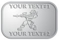 Ace Recognition Pewter Crest, Lapel - with your text and logo - paint balls, paint guns, paint, paintball, paintballer, paintballing, fun, game, gun, hit, hobby, recreation, sports