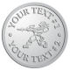 Ace Recognition Pewter Coin, Lapel, Plaque - with your text and logo - paint balls, paint guns, paint, paintball, paintballer, paintballing, fun, game, gun, hit, hobby, recreation, sports