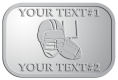 Ace Recognition Pewter Crest, Lapel - with your text and logo - ping pong, paddles, table tennis,  exercise, fitness, fun, games, racket, racquet, raquet, recreation, serve, set, sport, sporting