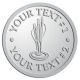 Ace Recognition Pewter Coin, Lapel, Plaque - with your text and logo - darts, archery, arrows, bullseye, fun, games, success, targets, triumph, win, leisure, luck, mark, success, target, triumph, win