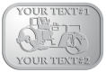 Ace Recognition Pewter Crest, Lapel, Plaque - with your text and logo - asphalt paving machine, paver, roller, machinery, equipment, heavy, steam rollers, steamrollers, drum compactors