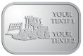 Ace Recognition Pewter Crest, Lapel, Plaque - with your text and logo - bulldozers, machinery, equipment, heavy