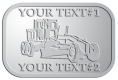 Ace Recognition Pewter Crest, Lapel, Plaque - with your text and logo - graders, machinery, road equipment, heavy equipment, highway maintenance