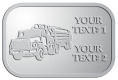 Ace Recognition Pewter Crest, Lapel, Plaque - with your text and logo - logging equipment, logging truck, trucking, cargo, industry, logging, truck, lumber