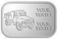 Ace Recognition Pewter Crest, Lapel, Plaque - with your text and logo - dump truck, road construction, machinery, heavy equipment, transportation