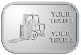 Ace Recognition Pewter Crest, Lapel, Plaque - with your text and logo - forklifts, fork lifts, reach trucks, lift trucks, hoist trucks, industrial vehicles
