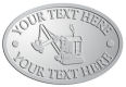 Ace Recognition Pewter Crest, Lapel, Plaque - with your text and logo - diggers, excavators, excavation, excavation equipment, excavation machines, excavation machinery, digger tractors, crawler excavators