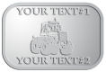 Ace Recognition Pewter Crest, Lapel, Plaque - with your text and logo - cab enclosures, machines, industrial equipment, construction machinery, cabs