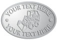 Ace Recognition Pewter Crest, Lapel, Plaque - with your text and logo - bucket front loaders, wheel loaders, machinery , loaders, excavators, bulldozers