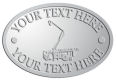 Ace Recognition Pewter Crest, Lapel, Plaque - with your text and logo - service trucks, crane trucks, aerial equipment, bucket trucks, utility equipment, bucket cranes, booms, telescopic booms