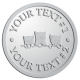 Ace Recognition Pewter Coin, Lapel, Plaque - with your text and logo - cats, kittens, felines, pets