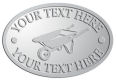 Ace Recognition Pewter Crest, Lapel, Plaque - with your text and logo - wheelbarrows, wheel barrows, garden carts