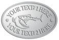 Ace Recognition Pewter Crest, Lapel, Plaque - with your text and logo - Tattoos, fish