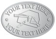 Ace Recognition Pewter Crest, Lapel, Plaque - with your text and logo - drywall, drywall tools, plaster, plasterer, scrapers, utility knives, utility knife, ruler, square, drywallers, trades