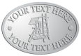 Ace Recognition Pewter Crest, Lapel, Plaque - with your text and logo - roofing, roofers, ladders, shingles, hammers, contractors