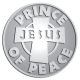 Ace Recognition Pewter Coin, Lapel, Plaque - with your text and logo - Christian - Jesus - prince of peace - cross - love - faith - religion  religious, metal