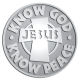 Ace Recognition Pewter Coin, Lapel, Plaque - with your text and logo - Christian - Jesus - know God know peace - cross - love - faith - religion  religious, metal