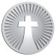 Ace Recognition Pewter Coin, Lapel, Plaque - with your text and logo - Christian Designs - cross  religious, metal
