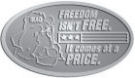 Ace Recognition Pewter Crest, Lapel, Plaque - with your text and logo - Military - Iraq - Fallen Soldier Memorial - American Flag - Freedom isn