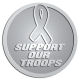 Ace Recognition Pewter Coin, Lapel, Plaque - with your text and logo - Military - Support our troops - ribbon, metal, navy