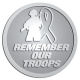 Ace Recognition Pewter Coin, Lapel, Plaque - with your text and logo - Military - Remember our troops - soldier - ribbon, metal, navy