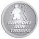 Ace Recognition Pewter Coin, Lapel, Plaque - with your text and logo - Military - Support our troops - soldier - ribbon, metal, navy