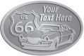 Ace Recognition Pewter Crest, Lapel, Plaque - with your text and logo - Car designs - US route 66 - vintage cars - sports car - your text, route 66, route sixty six, route sixty-six, historic highway, historic road, mother road, transportation, metal