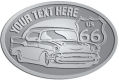 Ace Recognition Pewter Crest, Lapel, Plaque - with your text and logo - Car designs - US route 66 - vintage cars - classic cars - coupe - your text, route 66, route sixty six, route sixty-six, historic highway, historic road, mother road, transportation