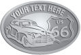 Ace Recognition Pewter Crest, Lapel, Plaque - with your text and logo - Car designs - US route 66 - vintage cars - classic cars - sports car - hot rod - your text, route 66, route sixty six, route sixty-six, historic highway, historic road, mother road