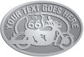 Ace Recognition Pewter Crest, Lapel, Plaque - with your text and logo - Motorcycle Designs - US 66 - route 66 -   chopper, motorcycle - your text, motorcycles, motor bikes, racing, motor, motorsports, motor-sports, transportation, metal