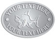 Ace Recognition Pewter Crest, Lapel, Plaque - with your text and logo - Sports, mascots, sports, fish, sea creatures, sharks, teams, high school, college, university