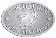 Ace Recognition Pewter Crest, Lapel, Plaque - with your text and logo - Sports, mascots, sports, sea creatures, dolphins, fish, teams, high school, college, university