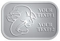 Ace Recognition Pewter Crest, Lapel - with your text and logo - Sports, mascots, sports, sea creatures, dolphins, fish, teams, high school, college, university