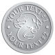 Ace Recognition Pewter Coin, Lapel, Plaque - with your text and logo - Sports, mascots, sports, sea creatures, dolphins, fish, teams, high school, college, university