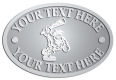 Ace Recognition Pewter Crest, Lapel, Plaque - with your text and logo - Cavemen, caveman, prehistoric, primal