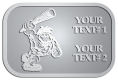 Ace Recognition Pewter Crest, Lapel - with your text and logo - Cavemen, caveman, prehistoric, primal