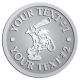 Ace Recognition Pewter Coin, Lapel, Plaque - with your text and logo - Cavemen, caveman, prehistoric, primal