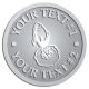 Ace Recognition Pewter Coin, Lapel, Plaque - with your text and logo - Aliens, rocket ships, rockets