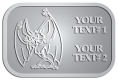 Ace Recognition Pewter Crest, Lapel - with your text and logo - Sports, mascots, bats, high school, college, university