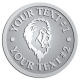 Ace Recognition Pewter Coin, Lapel, Plaque - with your text and logo - Sports, mascots, lions, cats, high school, college, university