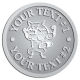 Ace Recognition Pewter Coin, Lapel, Plaque - with your text and logo - Sports, mascots, foxes, high school, college, university