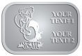 Ace Recognition Pewter Crest, Lapel - with your text and logo - Sports, mascots, birds, buzzards, high school, college, university