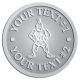 Ace Recognition Pewter Coin, Lapel, Plaque - with your text and logo - Sports, mascots, soldiers, roman soldiers, high school, college, university