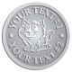 Ace Recognition Pewter Coin, Lapel, Plaque - with your text and logo - Sports, mascots, cats, felines, high school, college, university